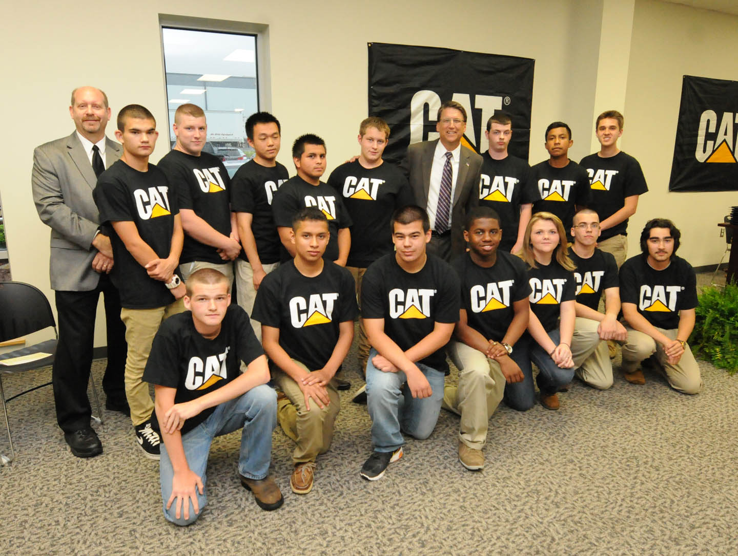 Click to enlarge First CAT youth welding apprentices graduate