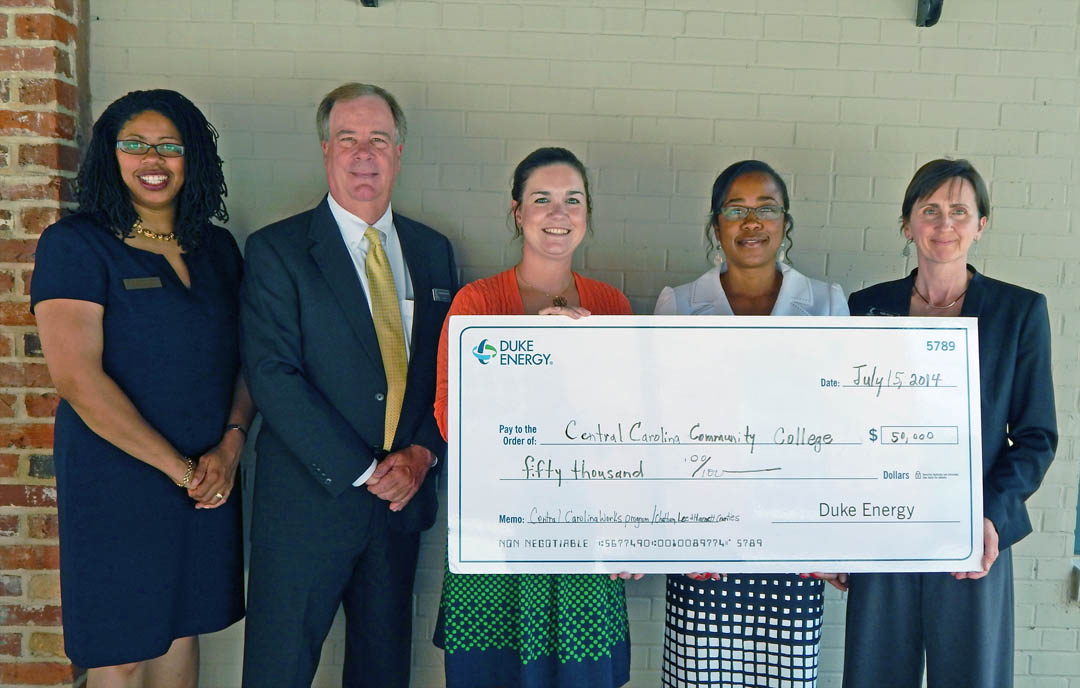 Click to enlarge Duke Energy Foundation assists CCCC training