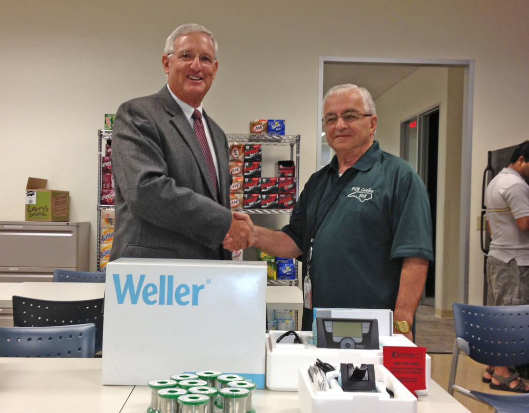 Read the full story, Mescia donates Weller soldering system to CCCC