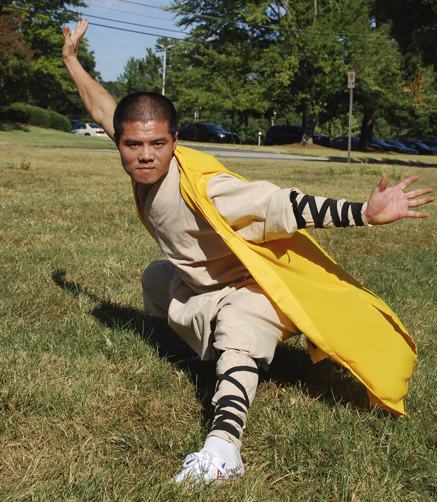Click to enlarge,  Yunnan Liu will be one of four martial arts masters of the Shaolin Kung Fu Mission performing Sept. 16 in the Main Exhibit Hall of the Dennis A. Wicker Civic Center, 1801 Nash St, Sanford. The event starts at 7 p.m. and is free and open to the public. Central Carolina Community College's Confucius Classroom and Natural Chef Cafe host this event, which will also feature students from the local Black Belt Leadership Academy. In partnership with the North Carolina State University Confucius Institute, the CCCC Confucius Classroom promotes an intercultural exchange of language and culture through a range of educational and outreach activities. For more information, visit www.cccc.edu/confucius.