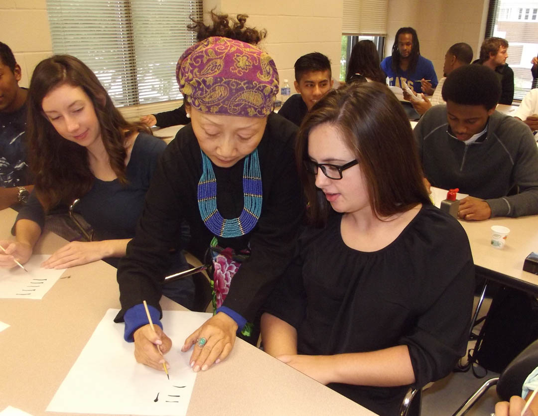 Read the full story, Chinese artist teaches calligraphy to CCCC students