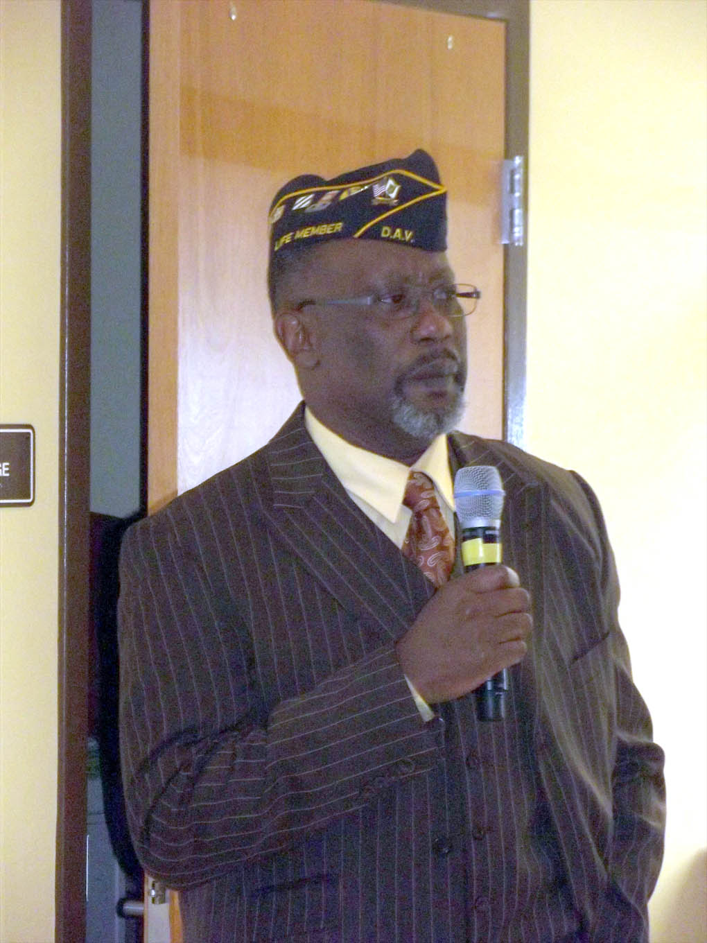 "Click to enlarge,  Leon Jackson, U.S. Army veteran, was guest speaker at the Veterans Day program, ""Celebrating American Heroes,"" on Nov. 5 at Central Carolina Community College's Siler City Center."
