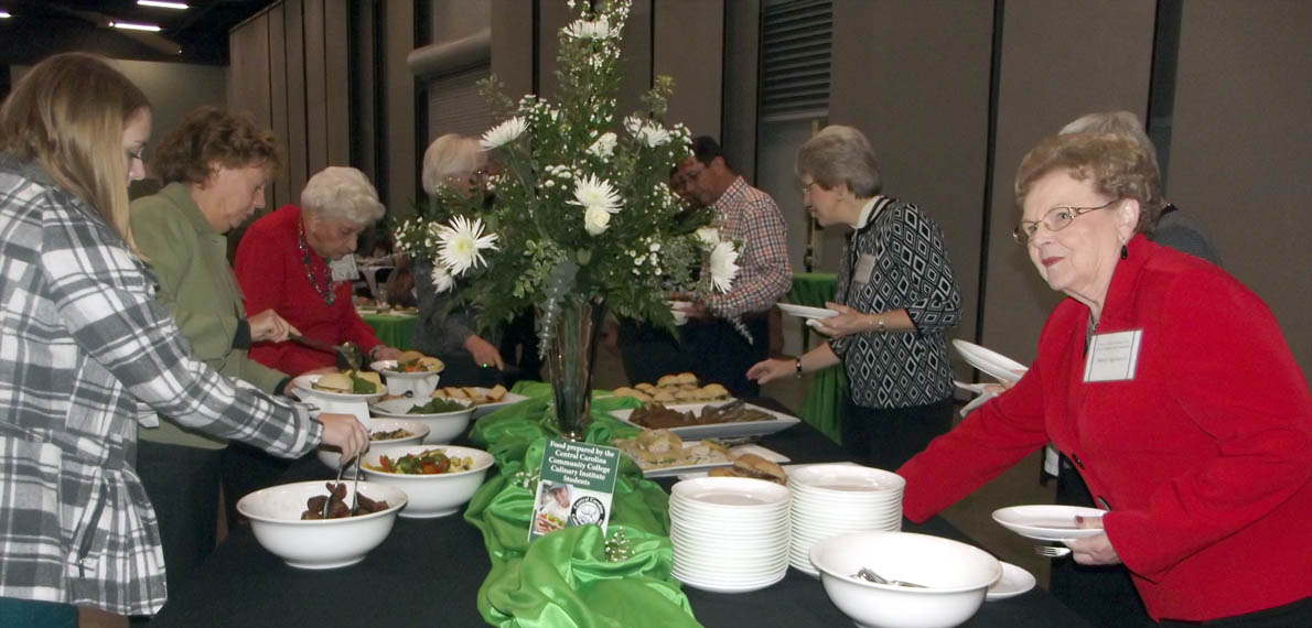 Click to enlarge,  Students in Central Carolina Community College's Culinary Institute prepared the meal for the college's 2014 Scholarship Luncheon, held Nov. 19 at the Dennis A. Wicker Civic Center in Sanford.