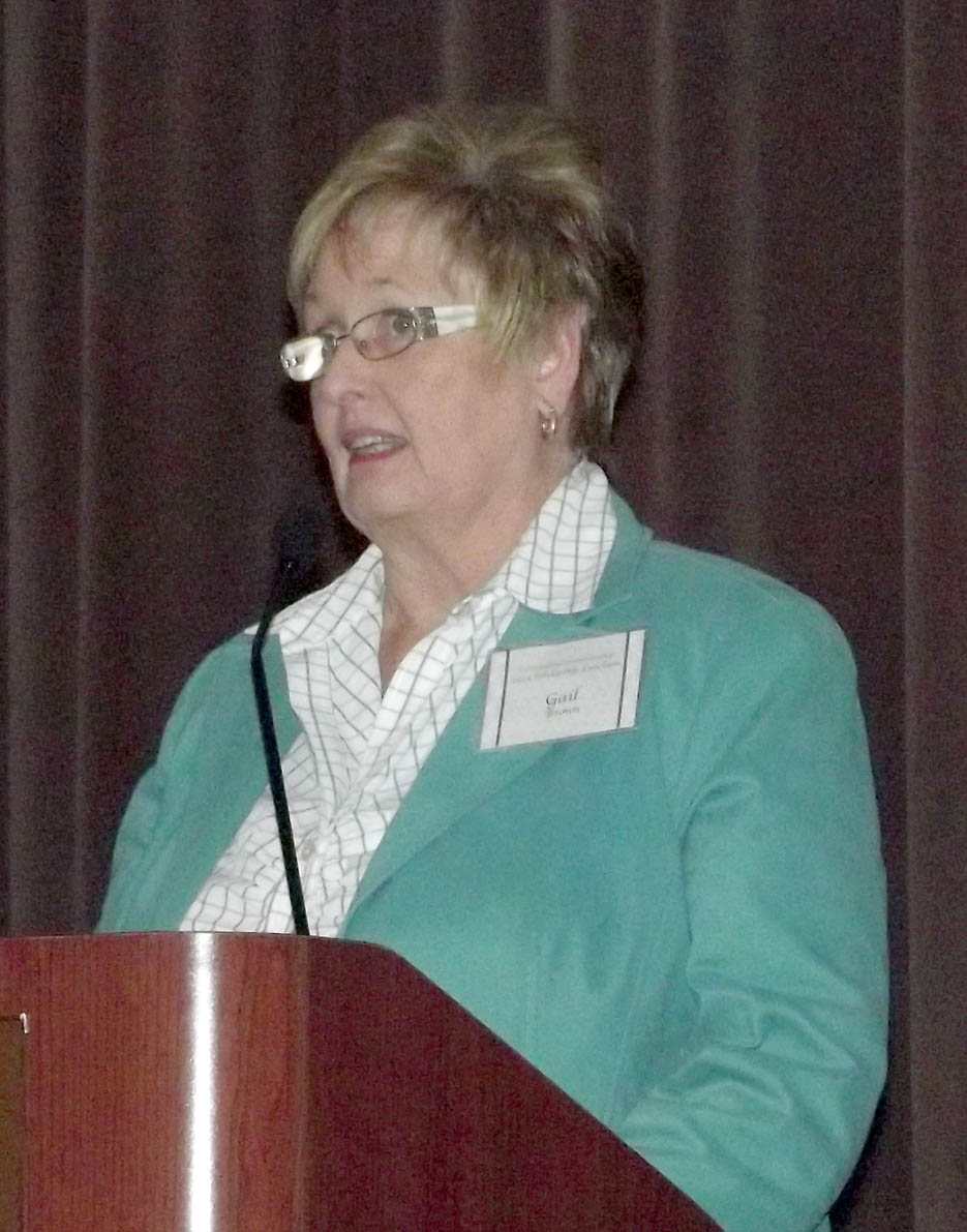 Click to enlarge,  Gail Brown, a student at Central Carolina Community College, was a speaker at the college's 2014 Scholarship Luncheon, held Nov. 19 at the Dennis A. Wicker Civic Center in Sanford.