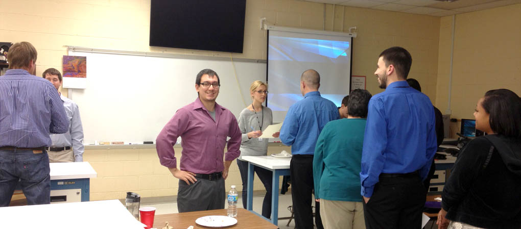 Cree recruiters visit with CCCC Laser and Photonics students