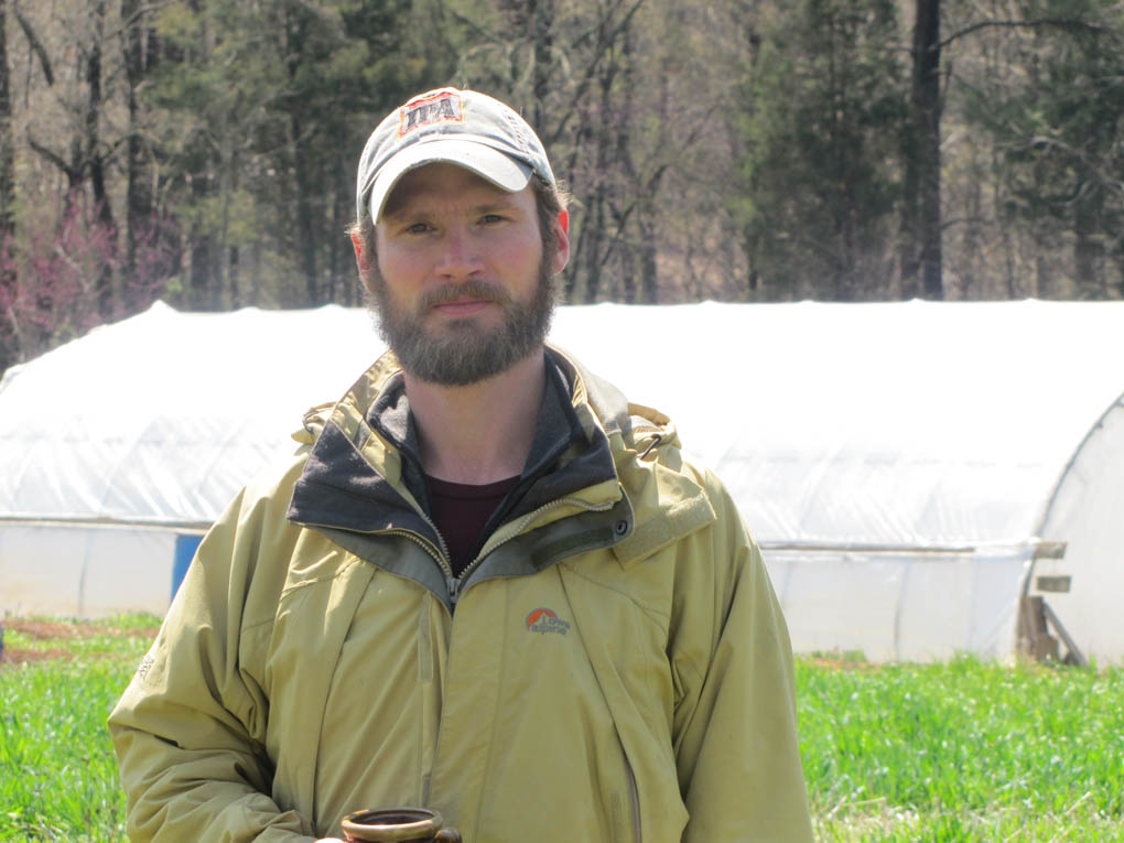 Click to enlarge,  James Fry is the new manager of the Central Carolina Community College student farm.