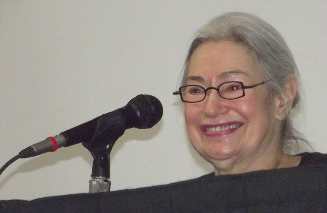 Click to enlarge,  Mrs. Renee Fink, a Holocaust survivor who was a child in hiding in Holland and whose parents perished in a concentration camp, was guest speaker for Central Carolina Community College's Second Annual Holocaust Remembrance Event held at the Dennis A. Wicker Civic Center.