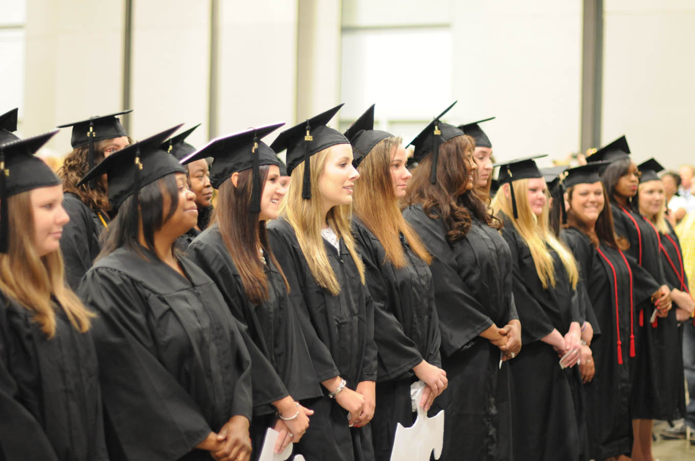 Click to enlarge,  There are approximately 840 members of the Class of 2015 at Central Carolina Community College. Commencement exercises were held on May 22 at the Dennis A. Wicker Civic Center in Sanford.