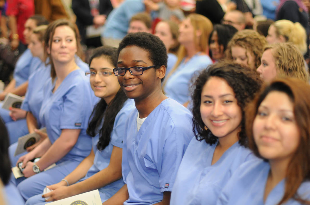 Click to enlarge,  More than 280 individuals are the latest graduates from the Central Carolina Community College Continuing Education medical programs.