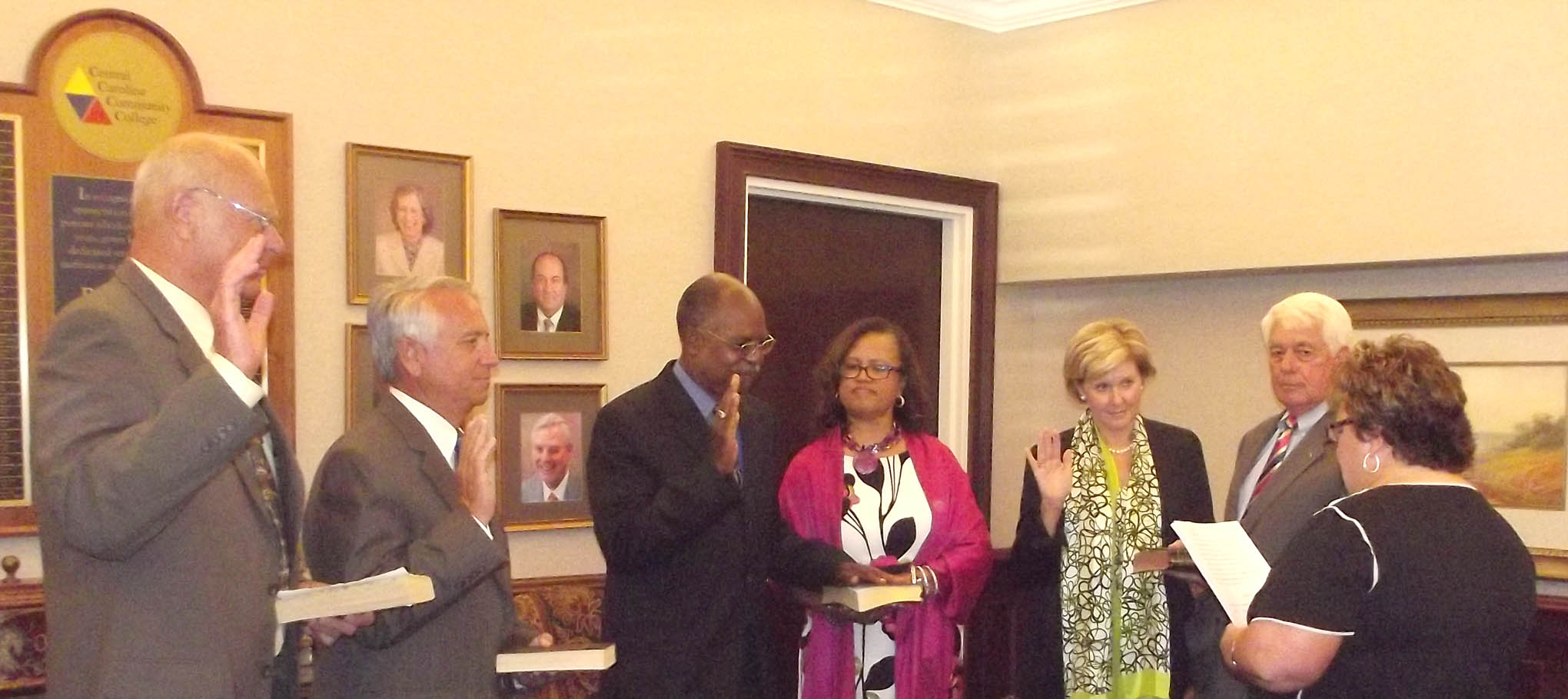 Read the full story, CCCC newest trustees are sworn-in