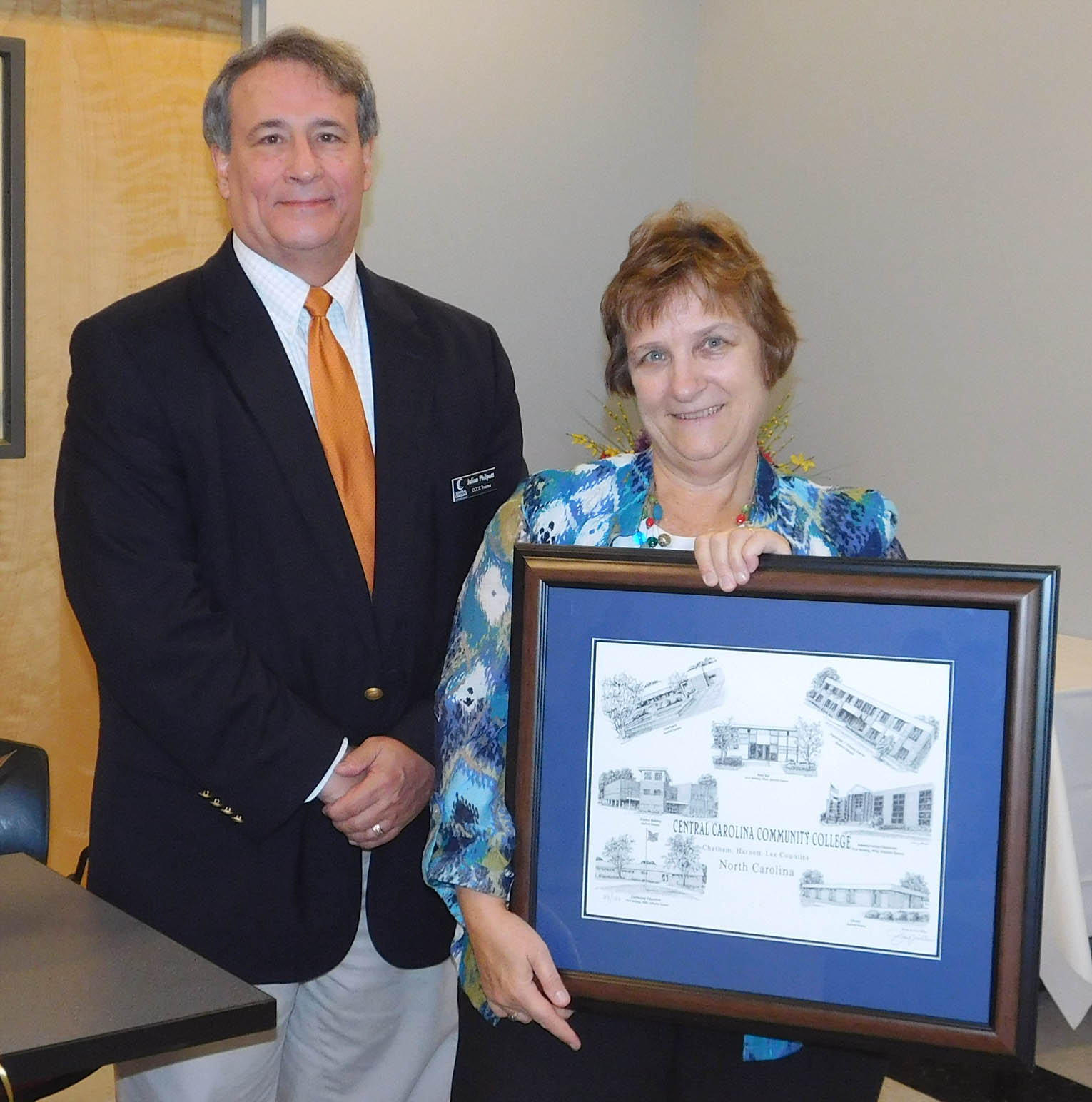 Susan Laudate honored for service to CCCC Trustees