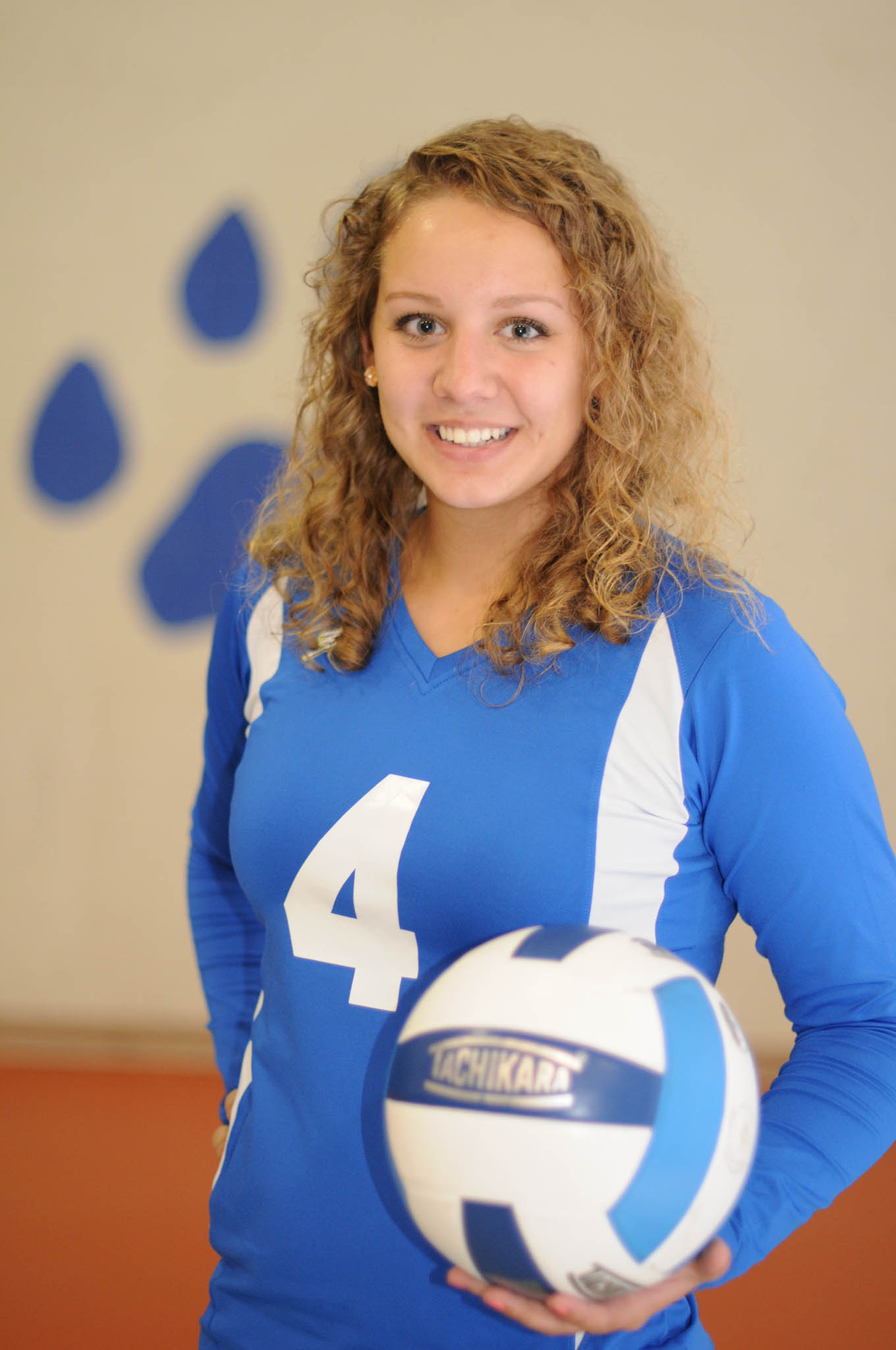 Click to enlarge,  Taylor Wagner is a captain of the Central Carolina Community College volleyball team.
