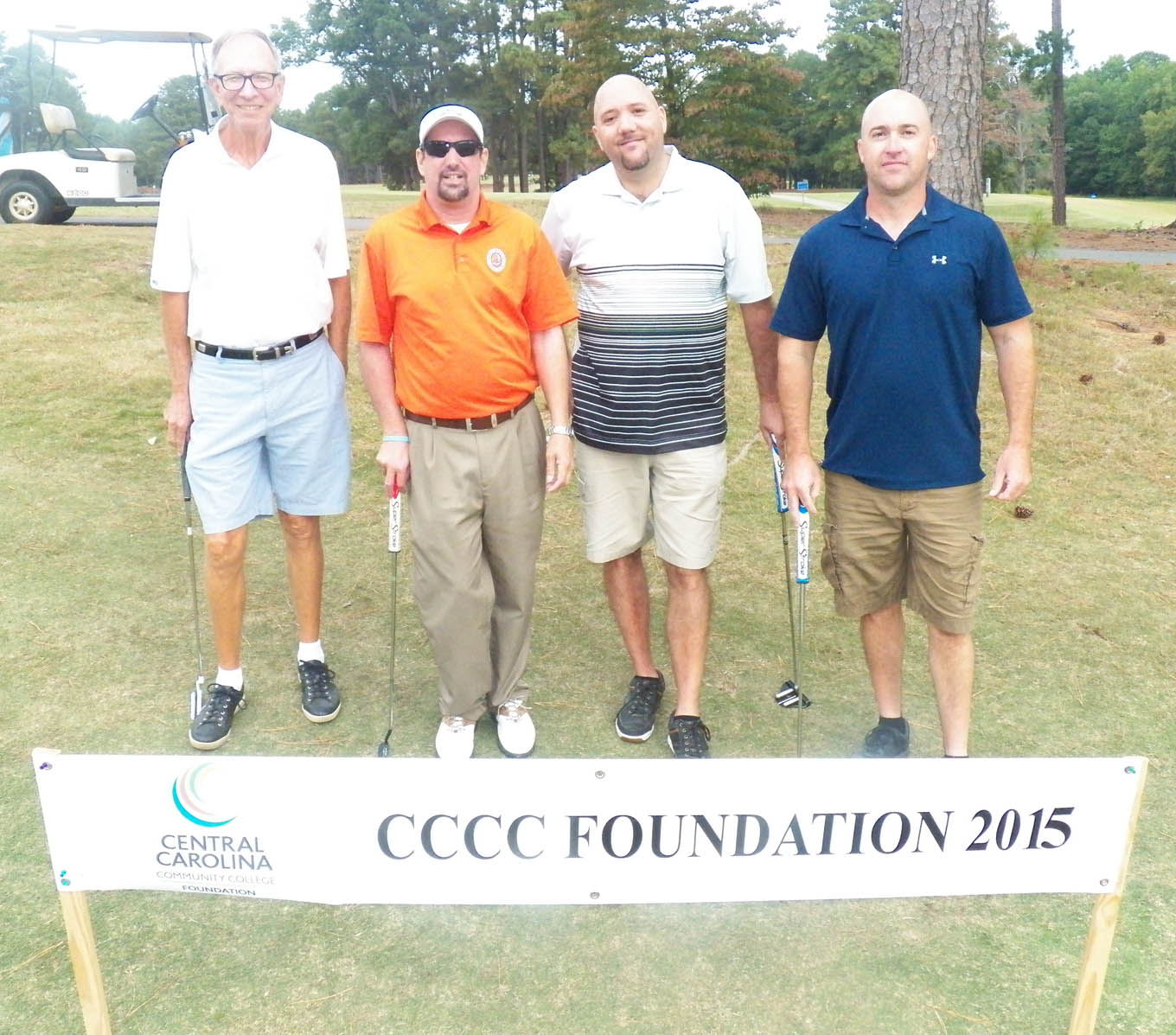 Click to enlarge,  The team of Mark Midford, Dale Bryant, Jeff Osborne, and Brad Kidd tied for first in the second flight of the morning tournament of the CCCC Foundation Lee Golf Classic.