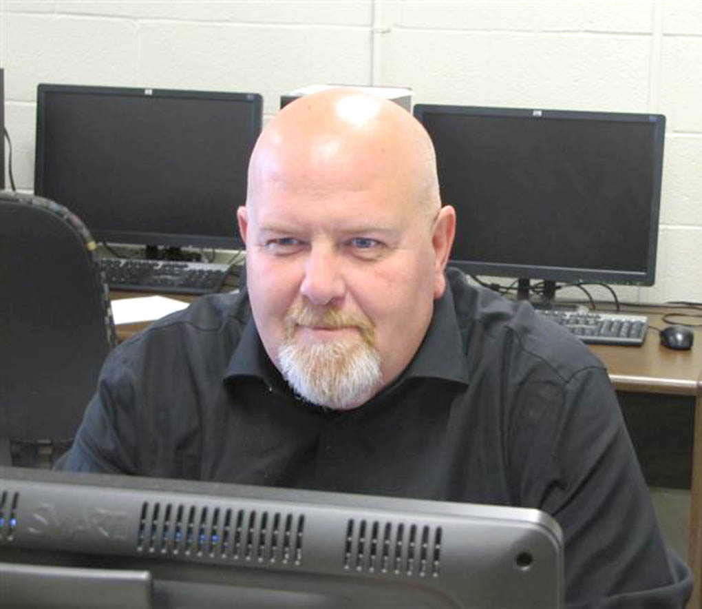 Click to enlarge,  Ben Cole, Lead Instructor for the CAD Technology program at CCCC, keeps pace with the latest developments in Computer-Aided Design Drafting.