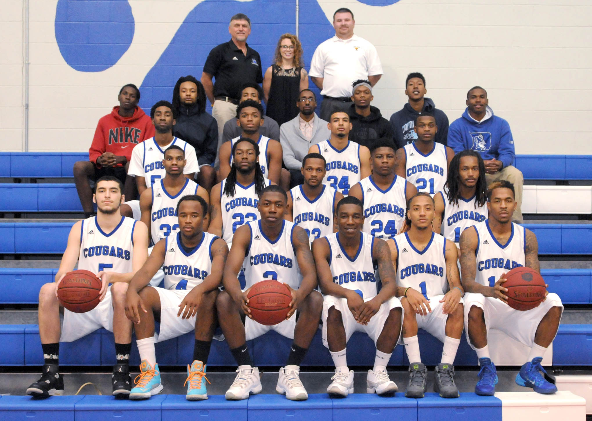 Click to enlarge,  Speed and shooting will be the strengths of the 2015-2016 Central Carolina Community College men's basketball team.