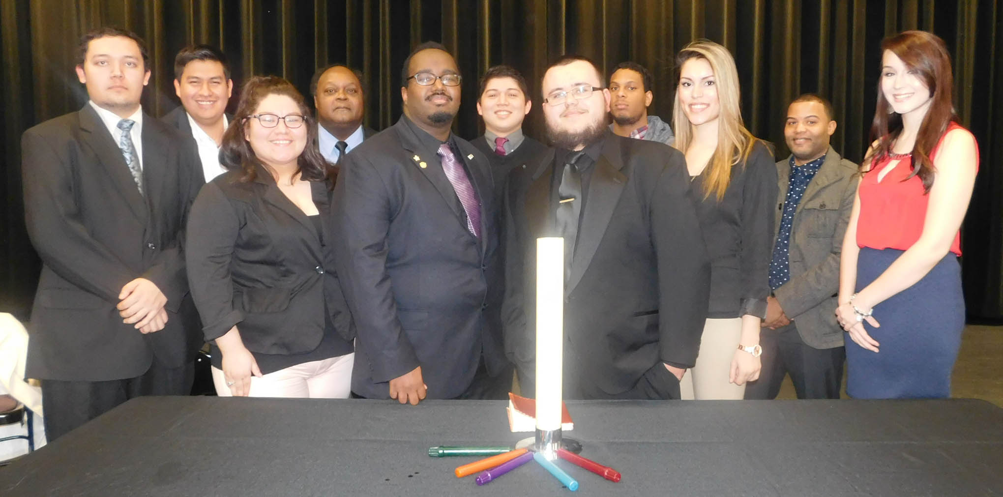Click to enlarge,  Officers of the Central Carolina Community College Phi Beta Lambda chapter.