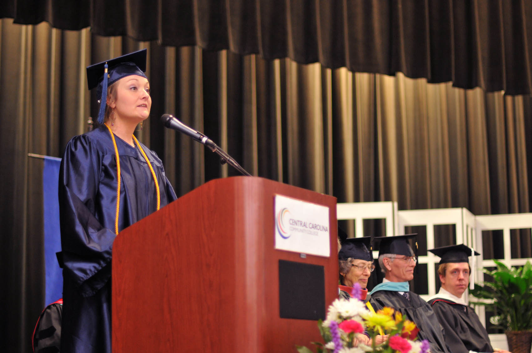 Click to enlarge,  Dani Lynn Hearn, a Chatham County graduate, was one of the commencement student speakers at Central Carolina Community College's College and Career Readiness Commencement Exercises on Feb. 1.