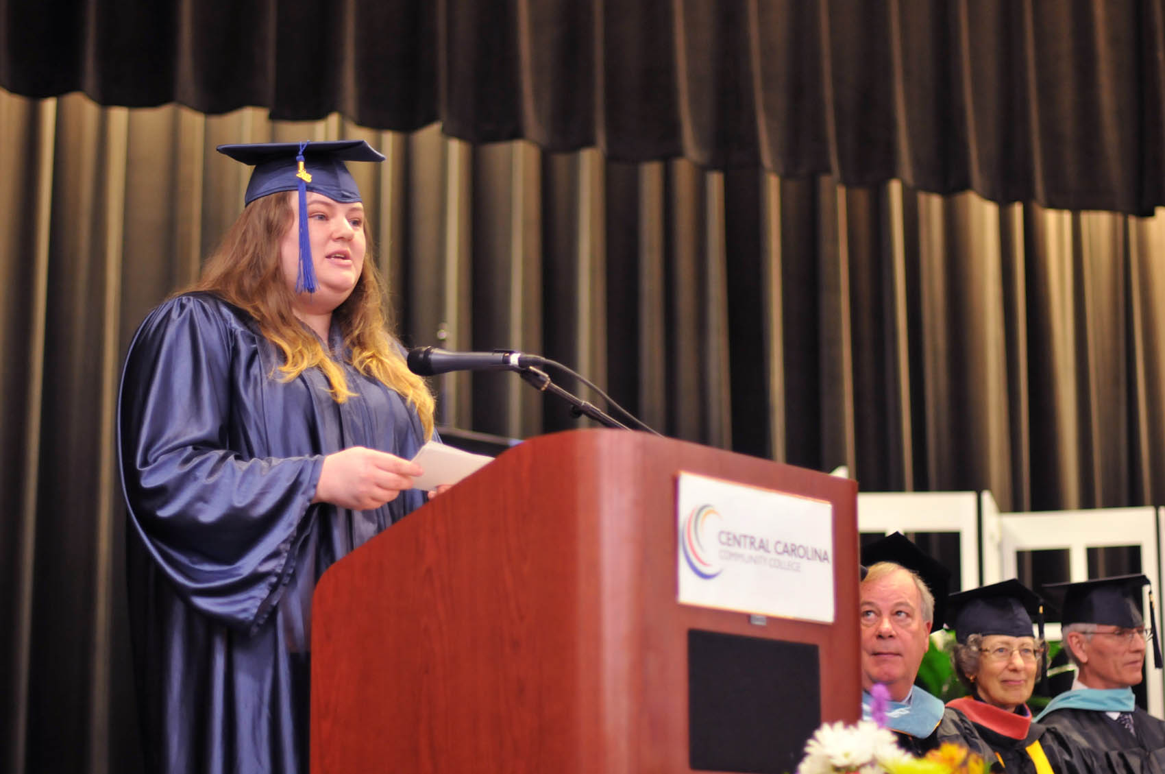 Click to enlarge,  Jordan Graham, a Harnett County graduate, was one of the commencement student speakers at Central Carolina Community College's College and Career Readiness Commencement Exercises on Feb. 1.