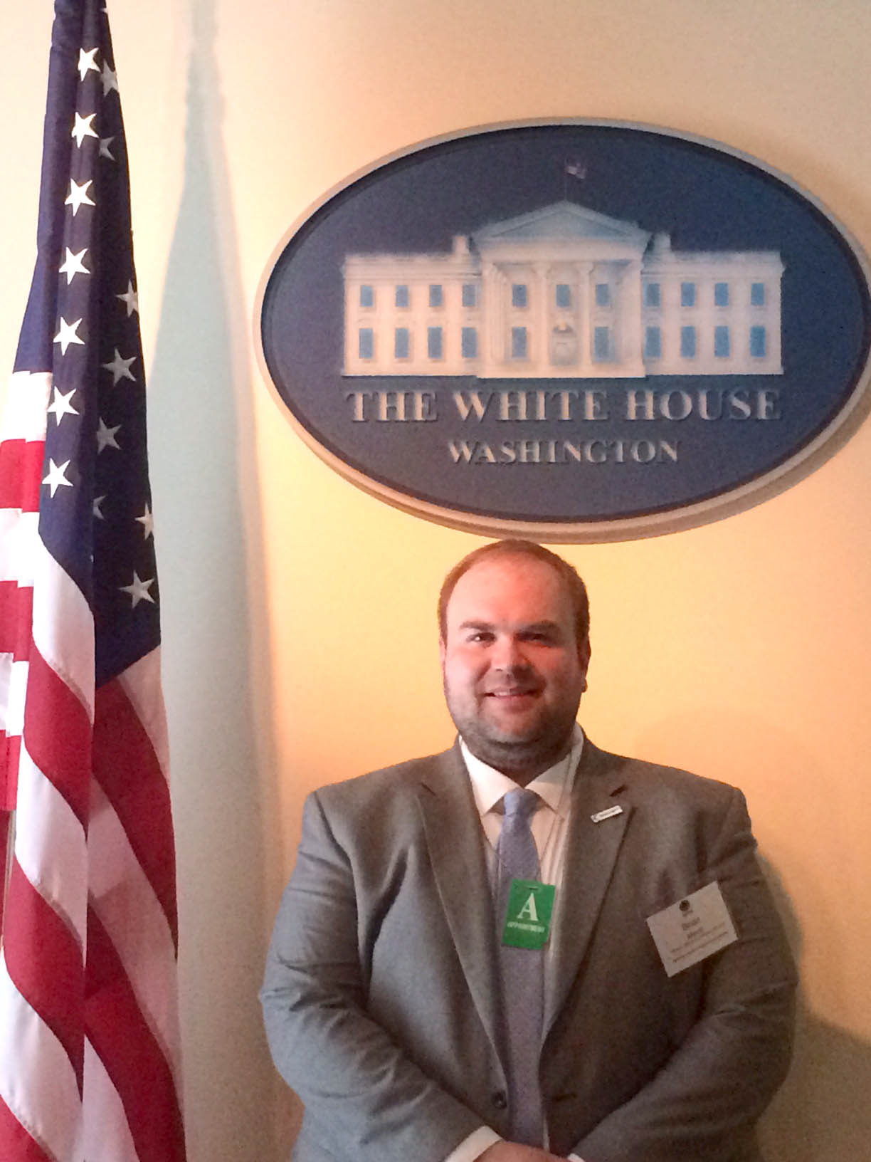 Two CCCC staff members visit White House to showcase First in the World grant