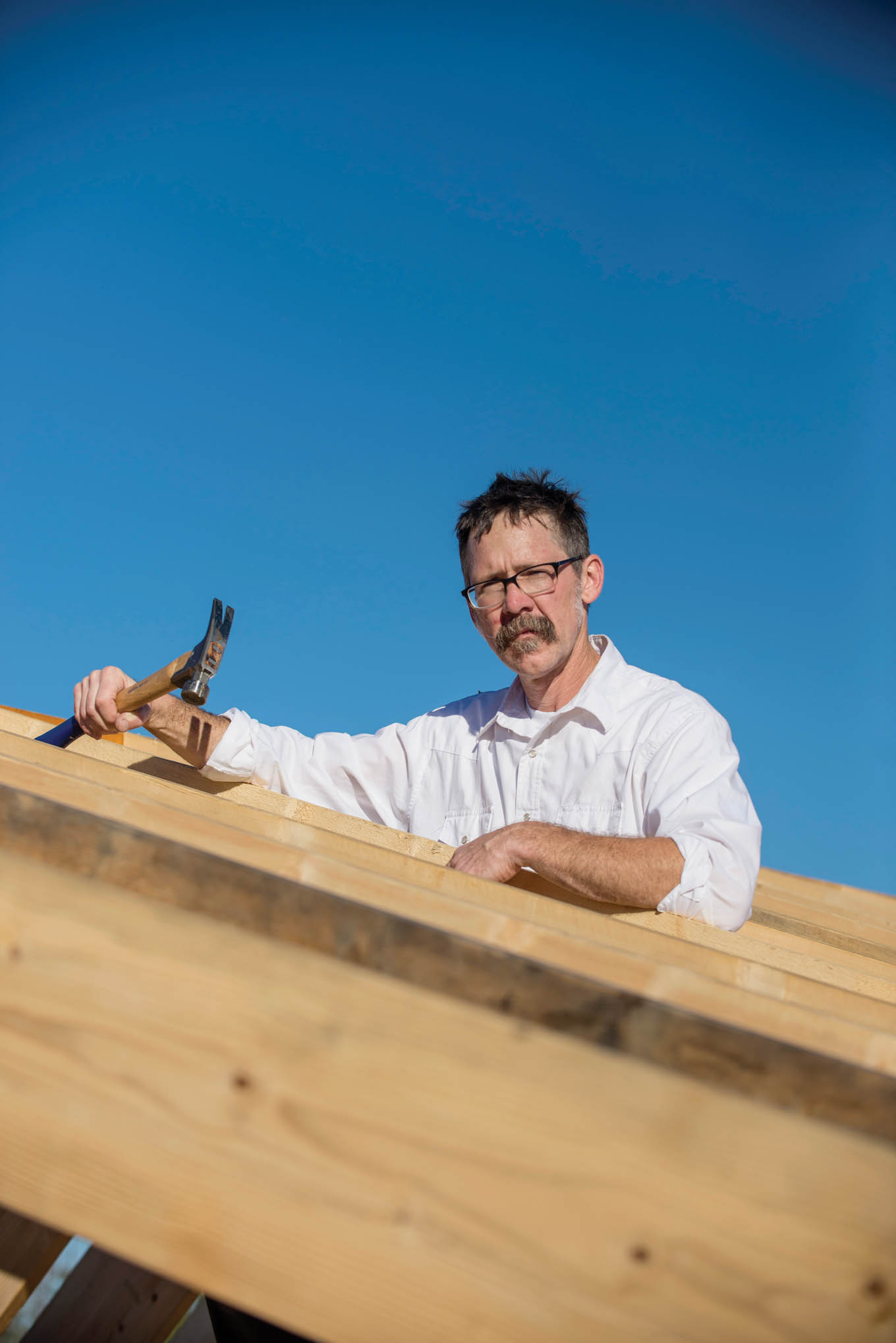 Click to enlarge,  Jeff Gannon is Central Carolina Community College Green Building Instructor.