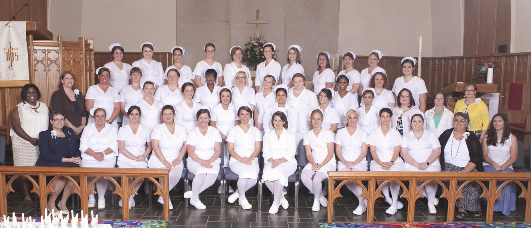 Click to enlarge,  Central Carolina Community College held a Pinning and Candlelighting Ceremony for its 2016 Associate Degree Nursing graduates on Thursday, May 12, at St. Luke United Methodist Church.