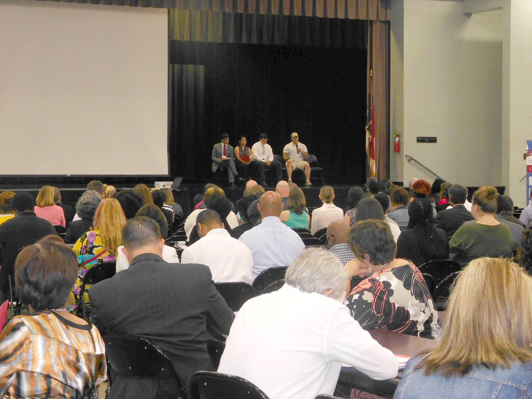 Click to enlarge,  Attendees at the NC STRIVE Conference listen to the Student Panel discussion on Wednesday, June 15, at the Dennis A. Wicker Civic Center in Sanford.
