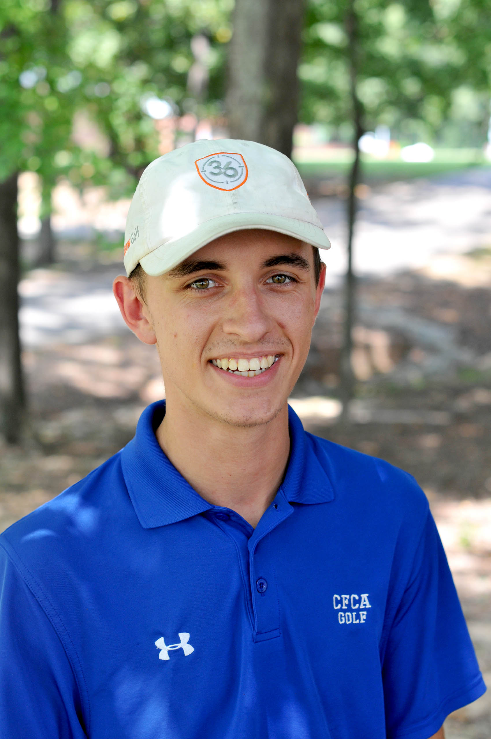 Click to enlarge,  Jacob Chisler is a sophomore on this year's Central Carolina Community College golf team.