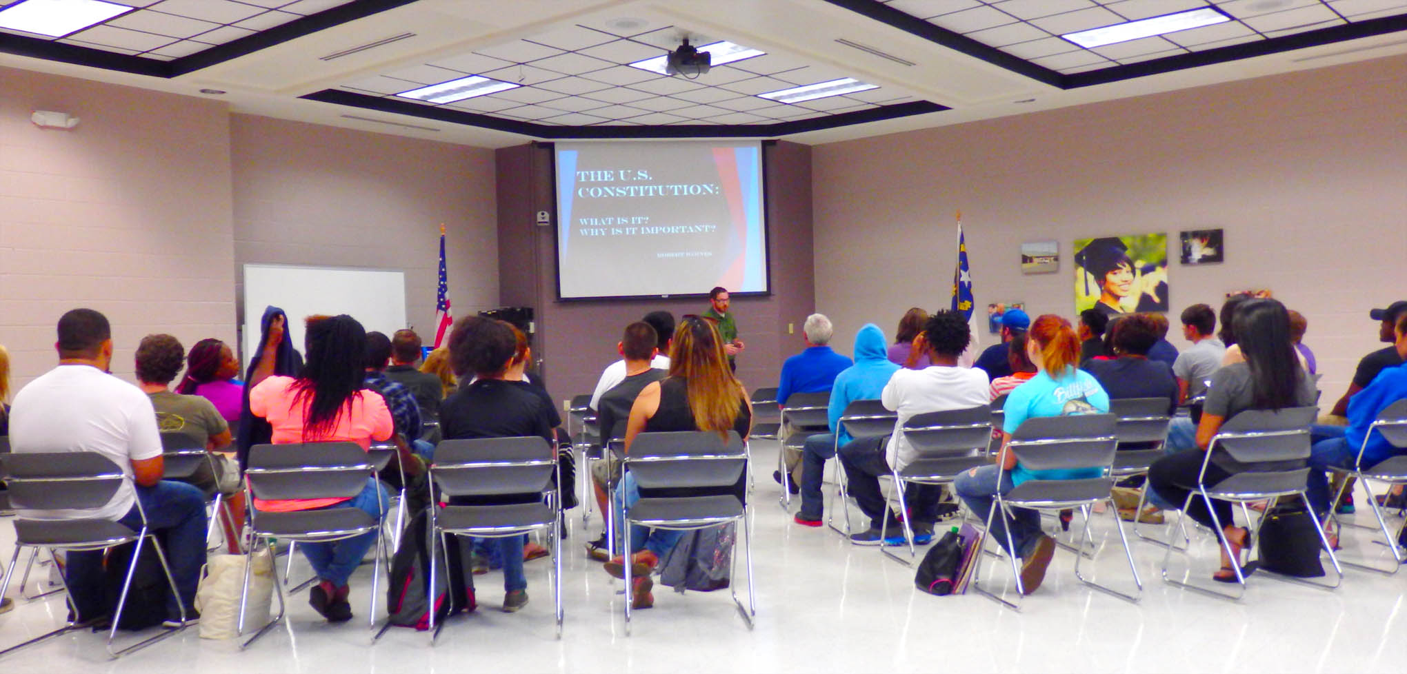 Click to enlarge,  The CCCC Harnett Main Campus recently hosted the lecture 'The U.S. Constitution: What Is It? Why Is It Important?' to commemorate Constitution Day.