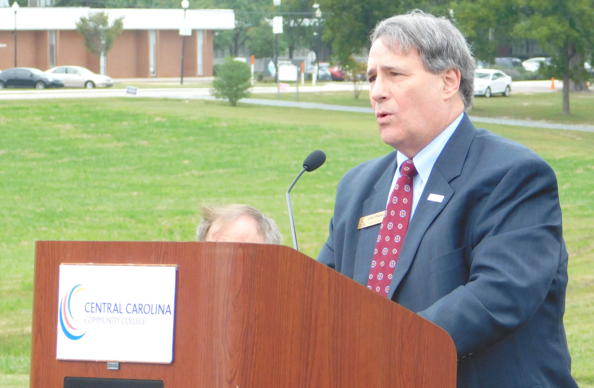 Click to enlarge,  Julian Philpott, Chairman of the Central Carolina Community College Board of Trustees, told attendees at the college's groundbreaking ceremony on Oct. 6, 'We hope you are proud of your community college as we continue CCCC's commitment to excellence.'