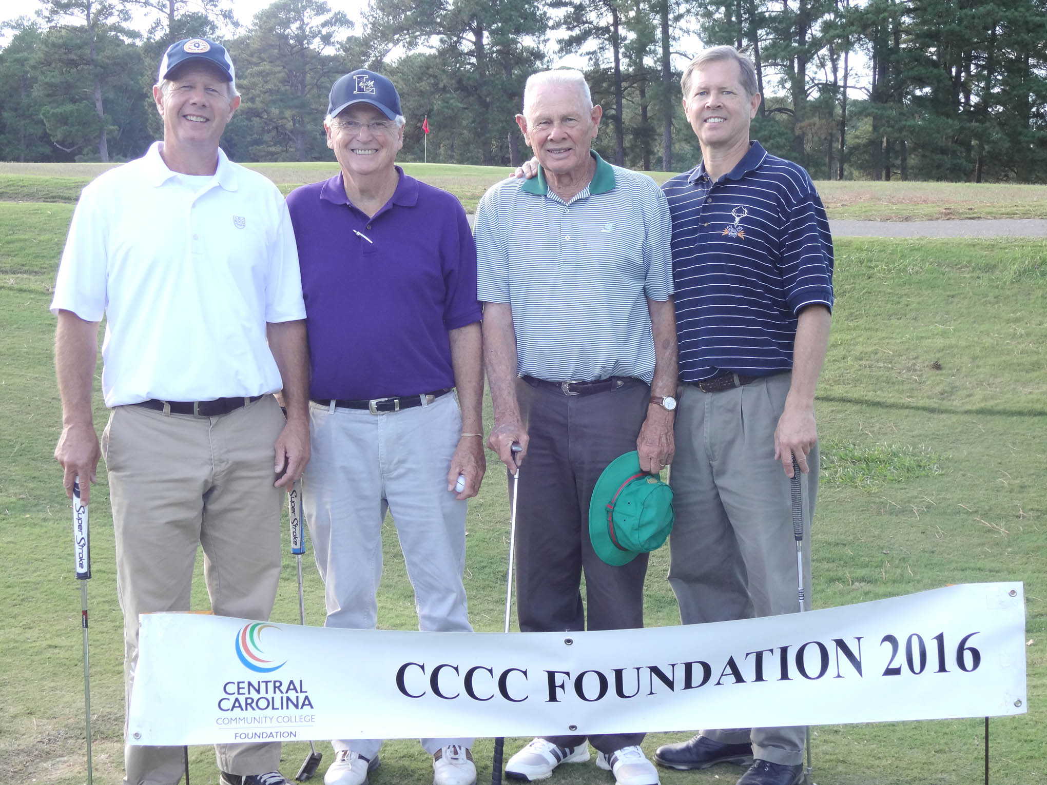 Click to enlarge,  The team of P.J. Gay, Lynn Smith, Paul Gay and Doug Gay won the third flight of the afternoon tournament of the CCCC Foundation Lee Golf Classic.