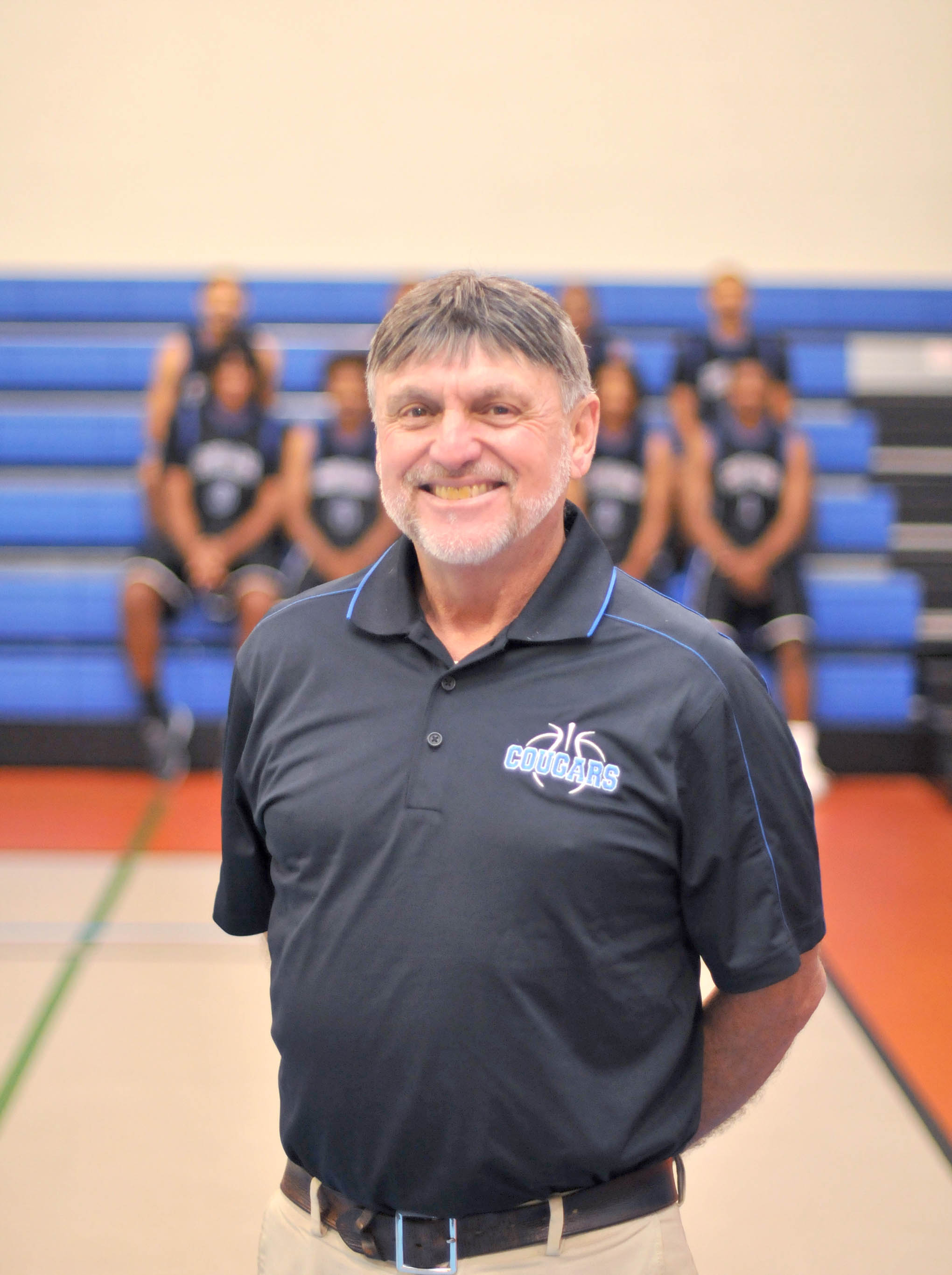Click to enlarge,  Coach Doug Connor is in his 12th season with the Central Carolina Community College men's basketball program.