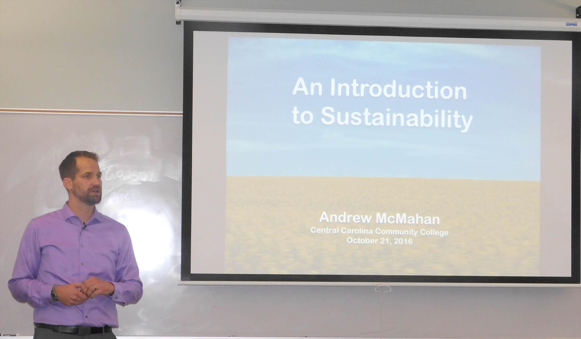 Read the full story, CCCC's McMahan presents 'An Introduction to Sustainability' lecture