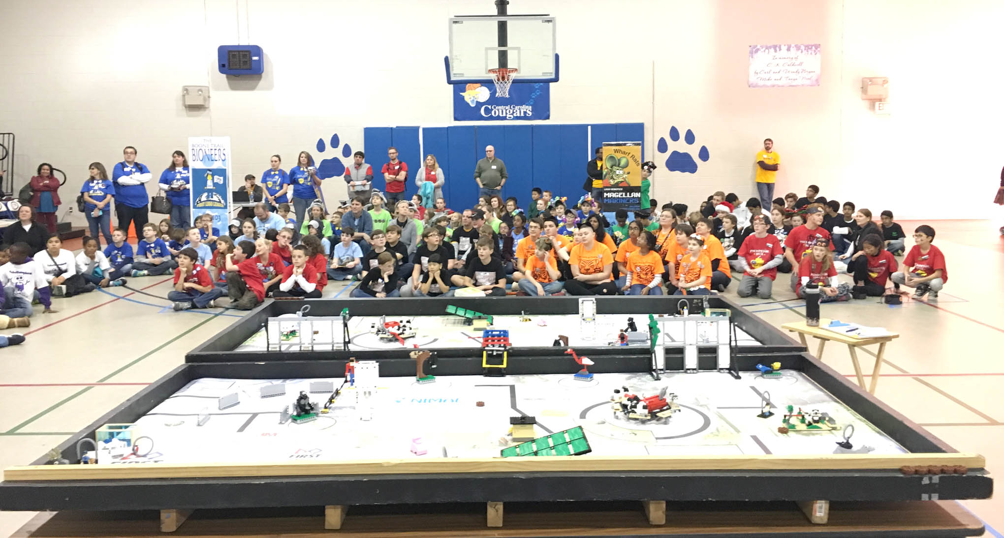 Click to enlarge,  Central Carolina Community College Student Outreach & Recruitment -- in collaboration and partnership with N.C. First(R) Lego(R) League (NC FLL), N.C. A&T State University, and Sharpe Pursuits -- hosted a NC FLL qualifying tournament on Saturday, Dec. 10, on the CCCC Lee Main Campus.