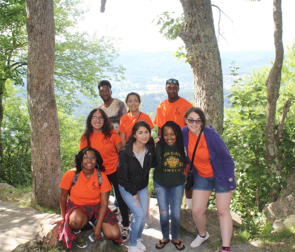 Click to enlarge,  UBMS students pose for a photo while visiting Boone, N.C.