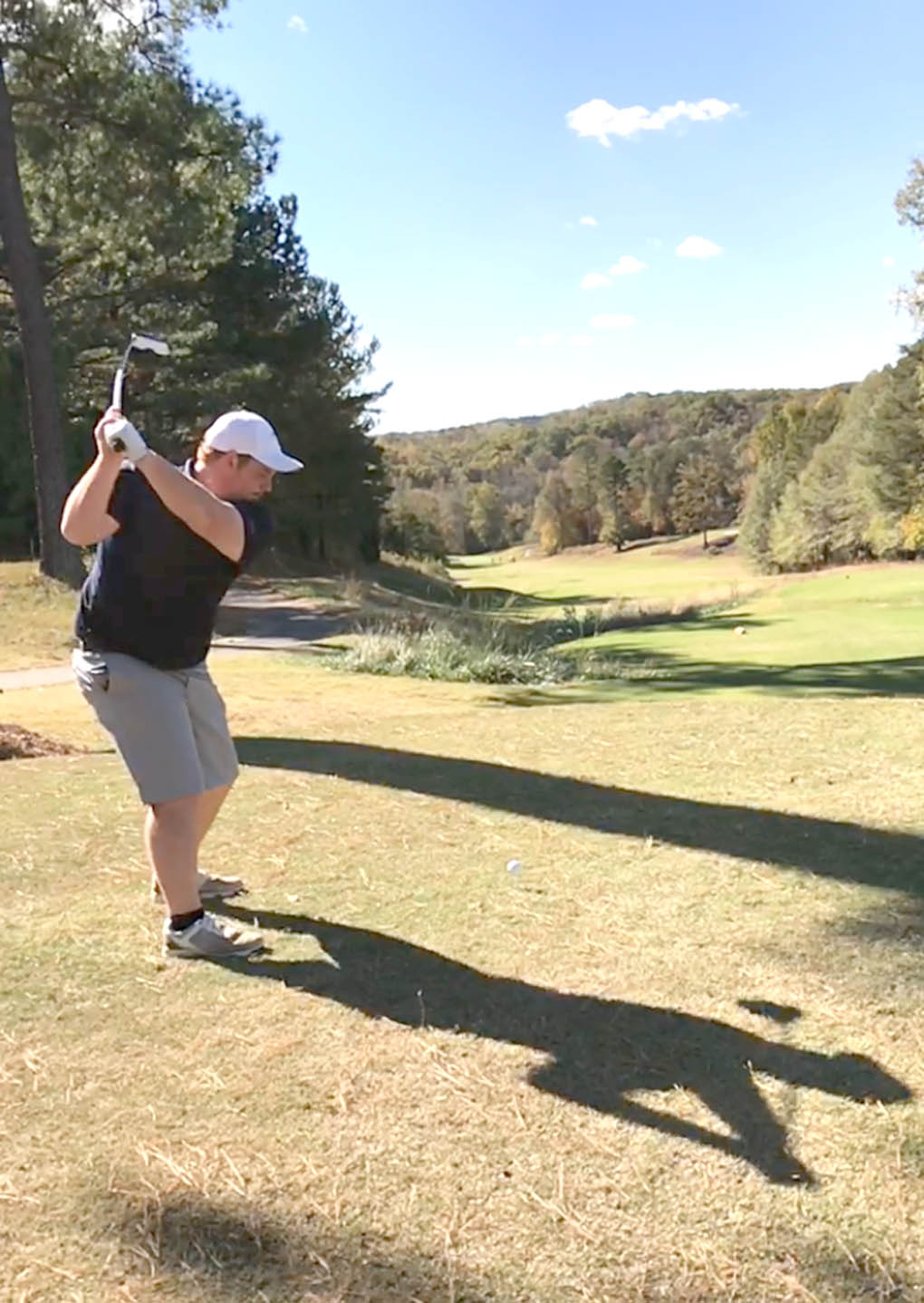 Click to enlarge,  Chris Brown (Sanford, Lee County High School) is among the returnees for the Central Carolina Community College spring golf season. He had the lowest stroke average in the fall season.