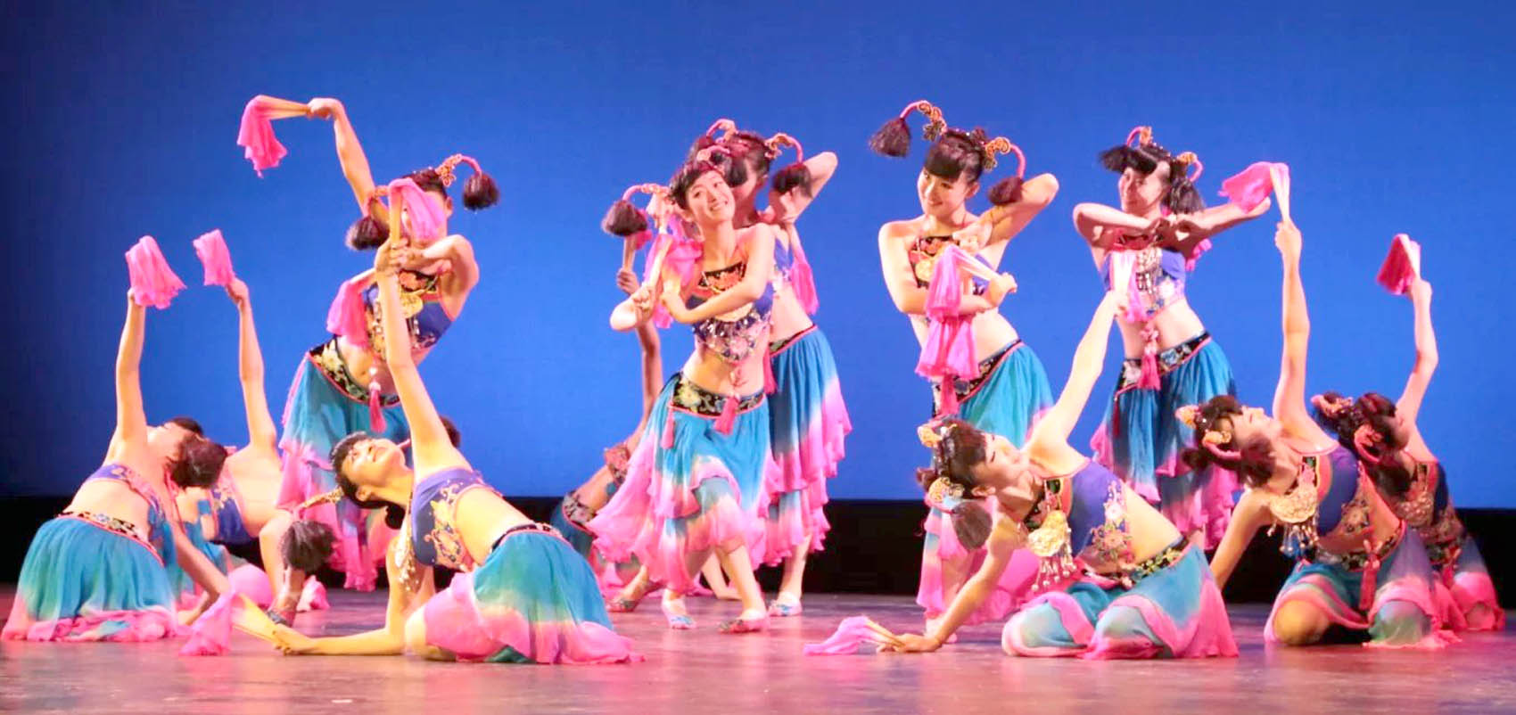 Click to enlarge,  Exciting and colorful Chinese traditional music and dance will light up the stage at the Dennis A. Wicker Civic Center Sunday, March 26, as Central Carolina Community College presents a performing troupe from Shanxi University, People's Republic of China.