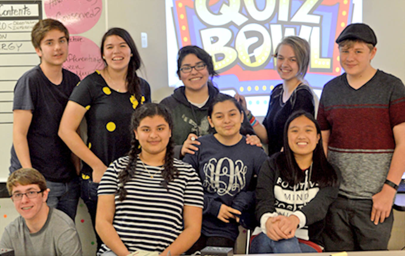 Click to enlarge,  The Lee Early College Quiz Bowl team recently participated in the Lee County Quiz Bowl competition.