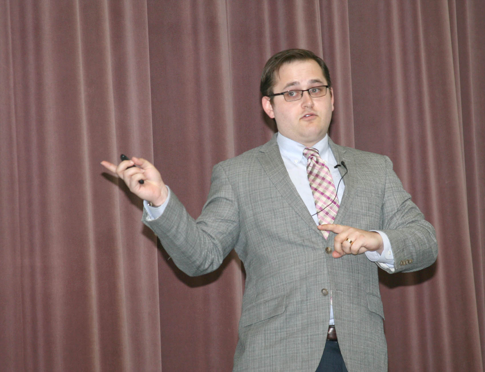 Read the full story, Elon Law's Elliot Engstrom speaks at CCCC