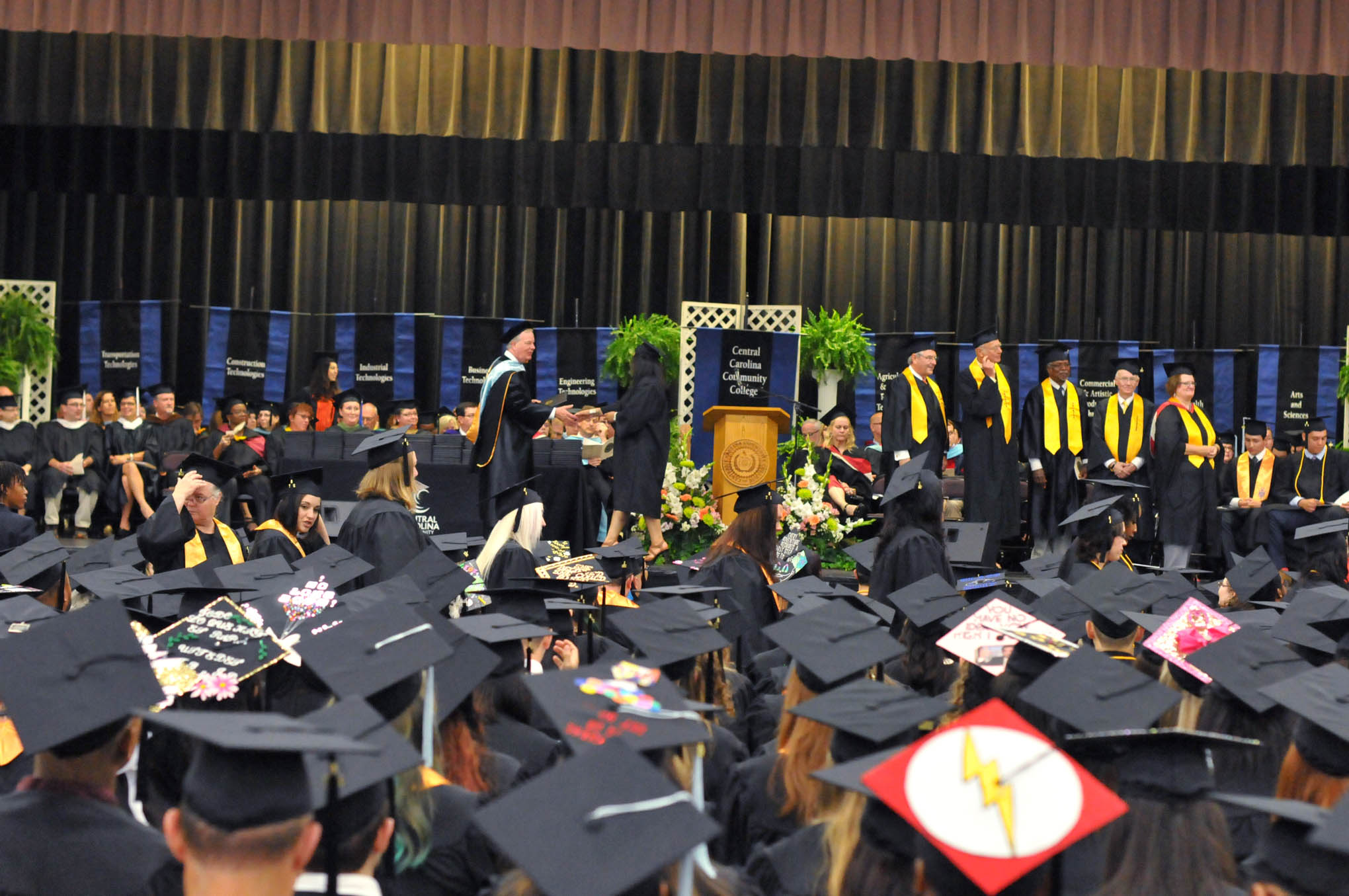 Click to enlarge,  There are approximately 826 members of the Class of 2017 at Central Carolina Community College. Commencement exercises were held on May 11 at the Dennis A. Wicker Civic Center in Sanford.