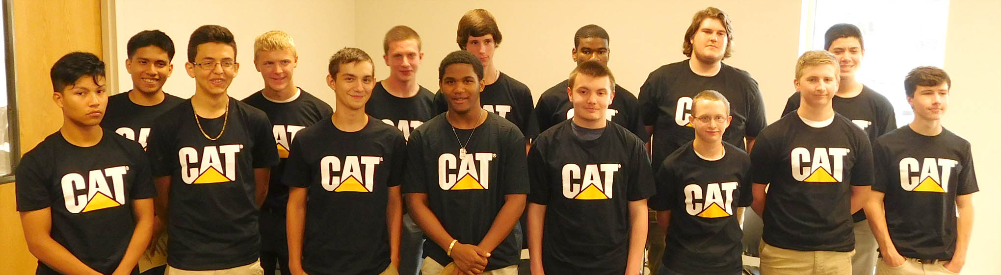 Click to enlarge,  The newest inductees of the Caterpillar Youth Apprentice Program.