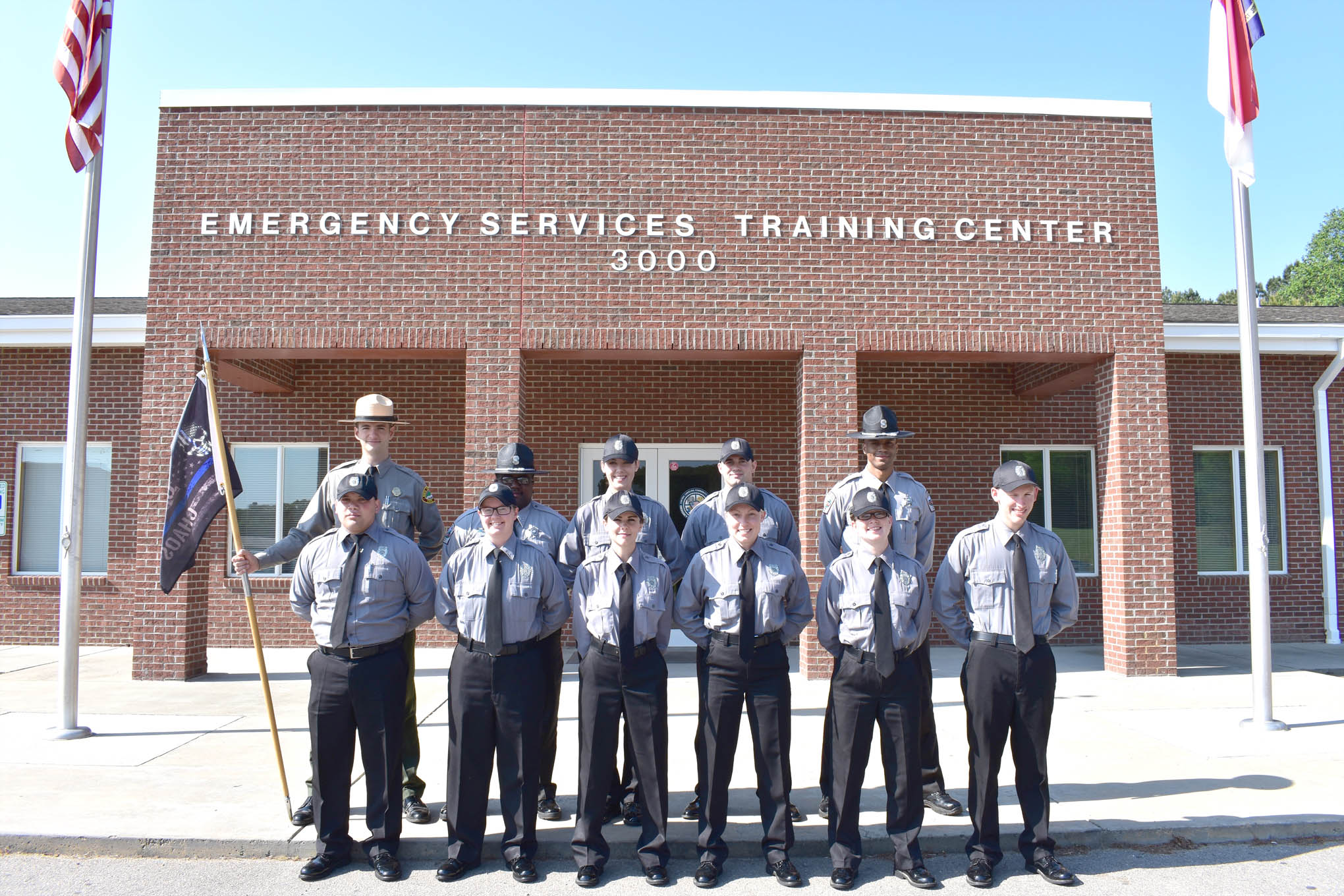 Click to enlarge,  Pictured are members of Central Carolina Community College's Basic Law Enforcement Training (BLET) spring class. For more information about the college's BLET program, visit www.cccc.edu/blet or contact Robert Powell at rpowell@cccc.edu or 919-777-7774.