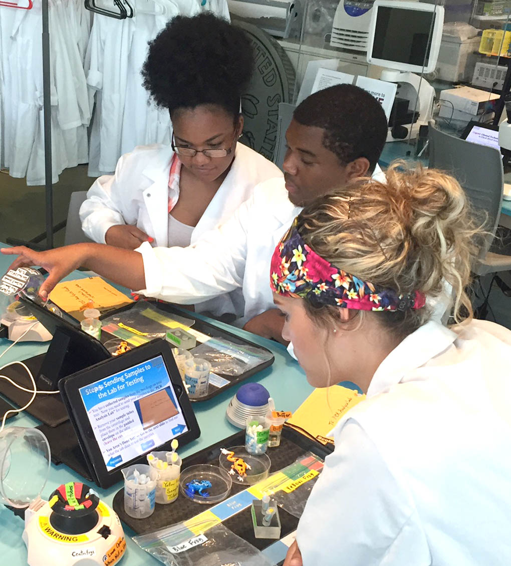 Click to enlarge,  Upward Bound students visit the N.C. Natural Science Museum.