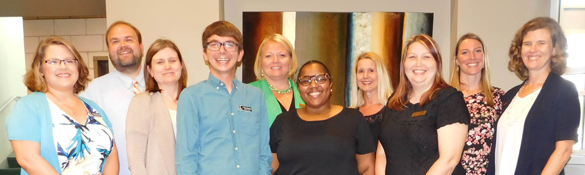 Click to enlarge,  Central Carolina Community College TRiO staff members are all smiles about receiving two new Upward Bound TRiO grants to serve students in Harnett and Lee counties. For more information about the Upward Bound Math and Science TRiO program at Central Carolina Community College, please call 919-718-7463 or email ub@cccc.edu.