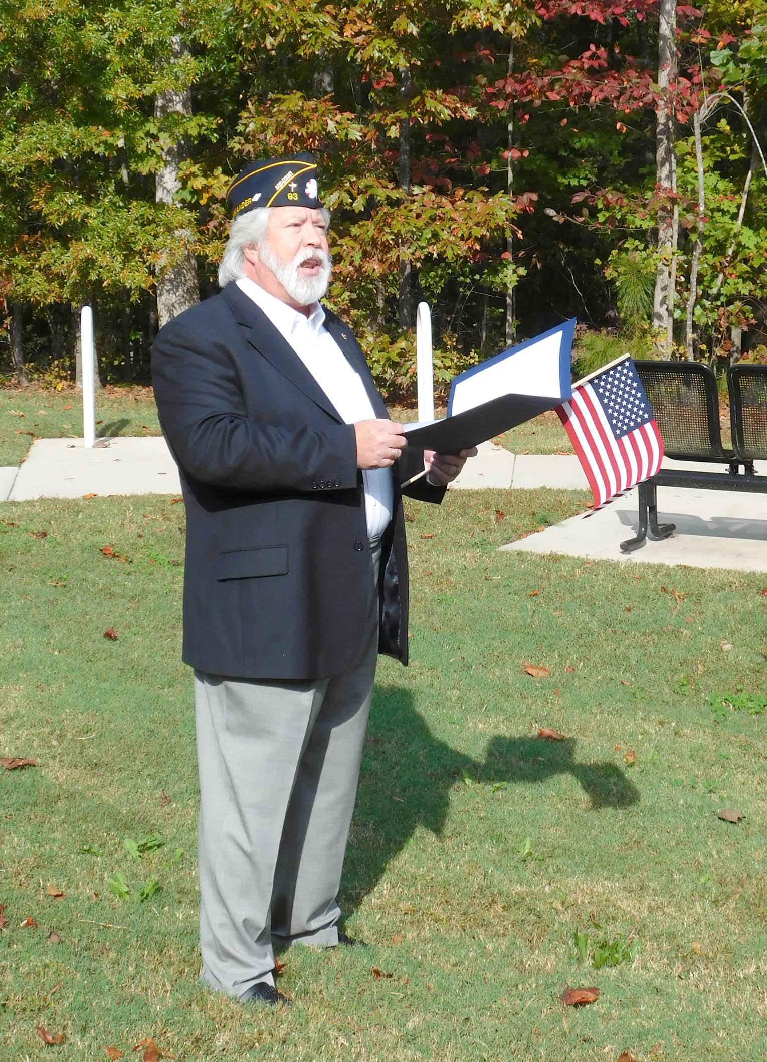 Click to enlarge,  Jeff Cathcart, a U.S. Navy veteran who is District Commander for The American Legion in N.C., will be guest speaker for the 2017 Veterans Day observance at the CCCC Siler City Center.