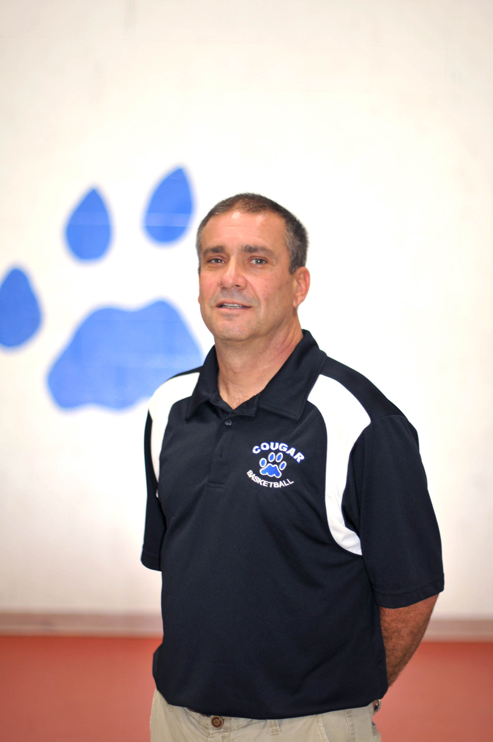 Click to enlarge,  Coach Frank Scutiere is Central Carolina Community College women's basketball program.