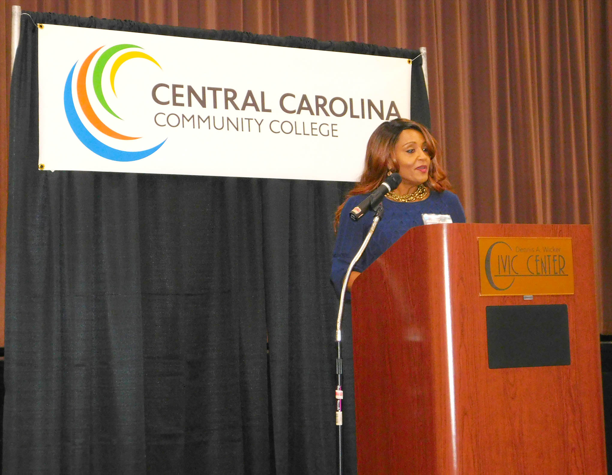 Click to enlarge,  Tammy Alexander was the student speaker at Central Carolina Community College's Scholarship Luncheon on Wednesday, Nov. 15, at the Dennis A. Wicker Civic Center.