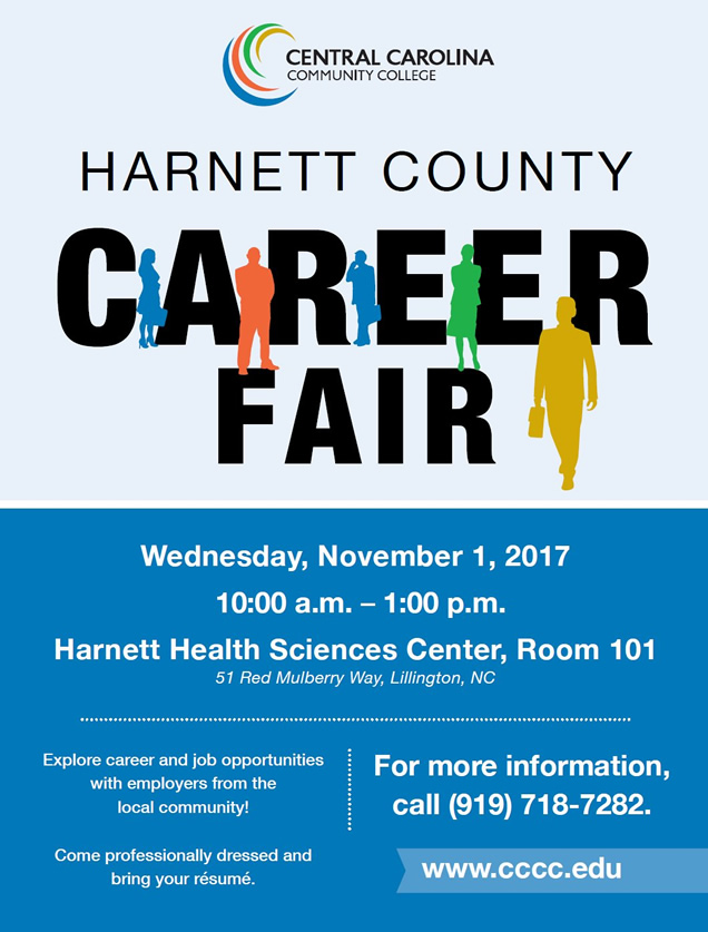 Read the full story, CCCC will host Harnett Career Fair on Nov. 1
