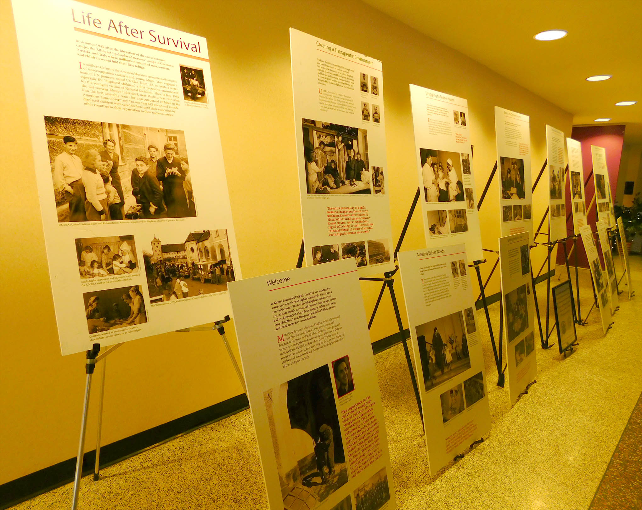 "Click to enlarge,  An exhibit, ""Life After Survival,"" provided by the North Carolina Council on the Holocaust, was part of the Holocaust Remembrance Event at Central Carolina Community College."