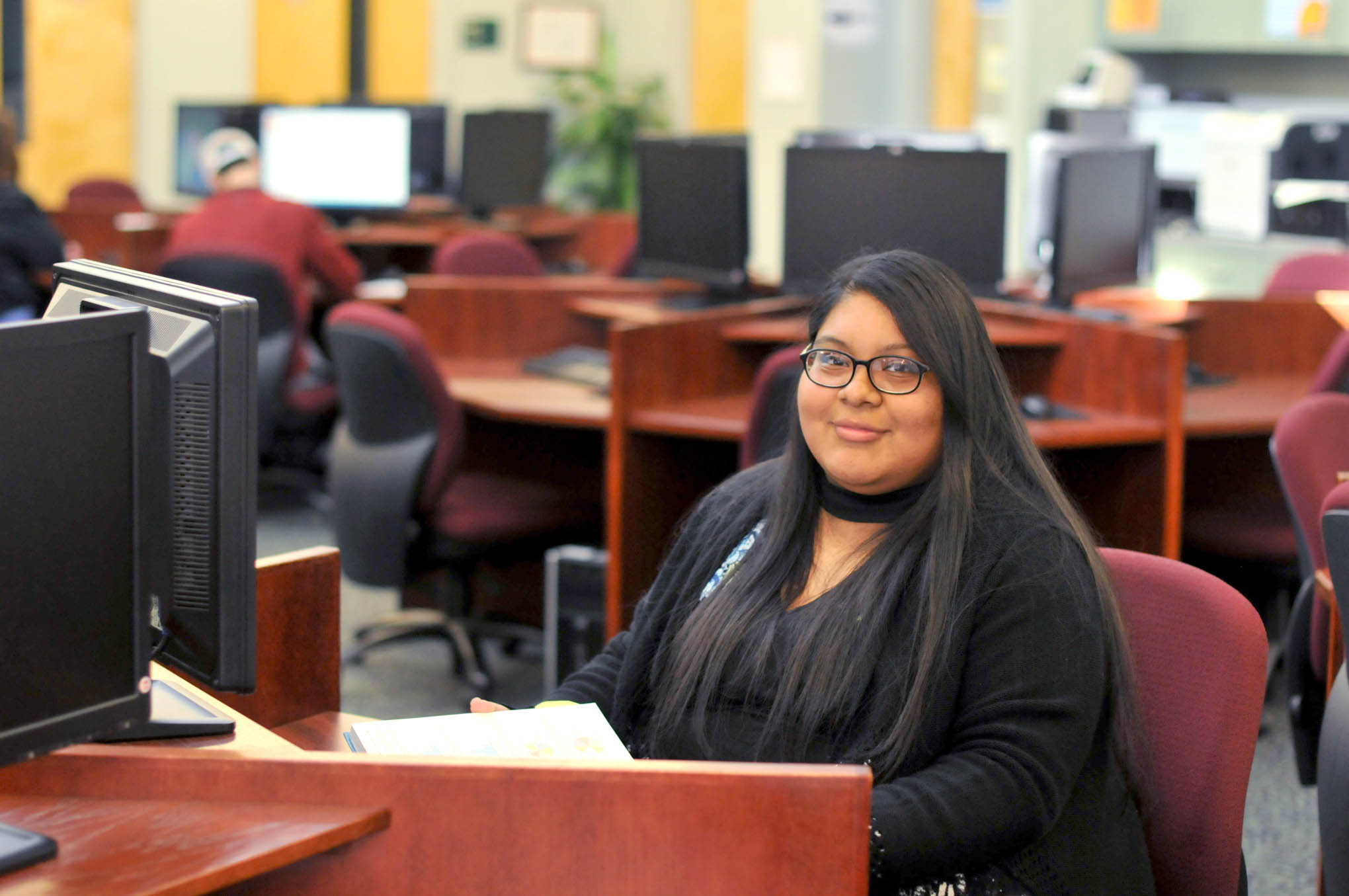 Click to enlarge,  Gladys Yessinia Alvarez, of Sanford, is Central Carolina Community College's nominee for the Dallas Herring Achievement Award.