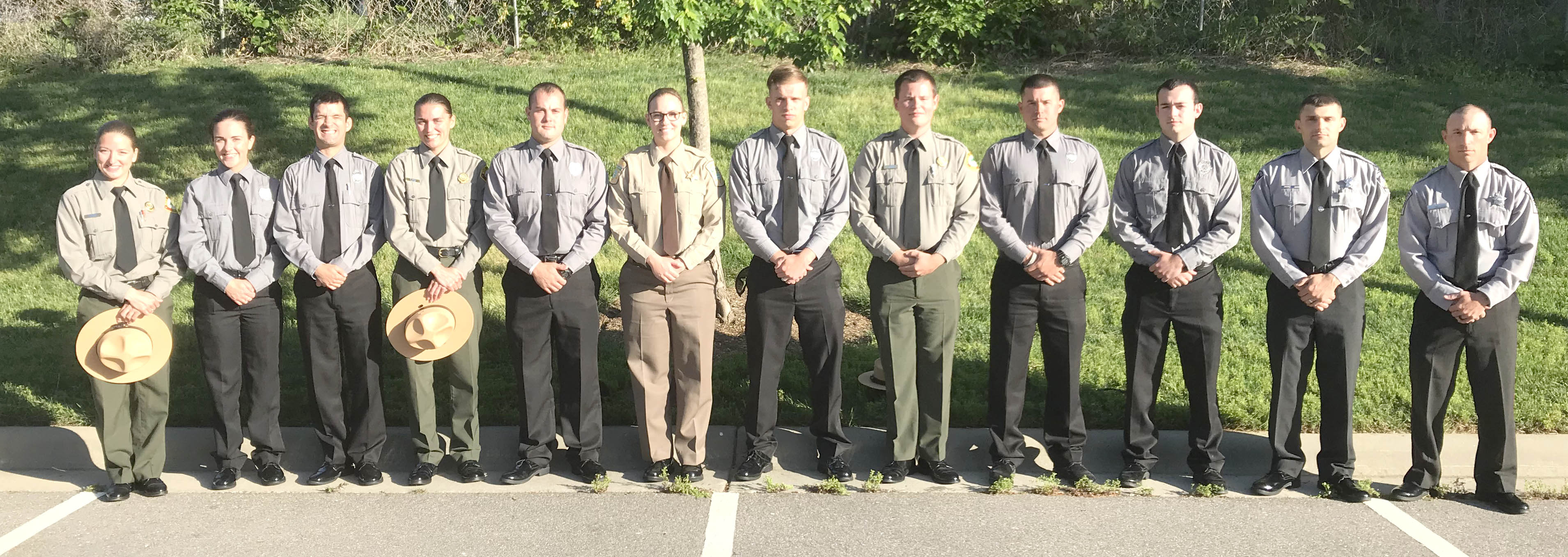 Click to enlarge,  Pictured are members of Central Carolina Community College's Basic Law Enforcement Training (BLET) graduating class -- Rachel Mumma, Kendra Hepner, John Beach, Emily Davies, Alan Zoller, Samantha Spears, Devin Smith, Jonathan Buie, Evan Cannaday, Jesse Moore, Jonathan Cox, and David Nixon. For more information about the college's BLET program, visit www.cccc.edu/blet or contact Robert Powell at rpowell@cccc.edu or 919-777-7774.